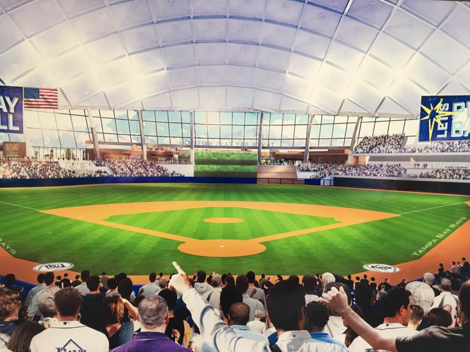 Behind Rays2020 Home Plate